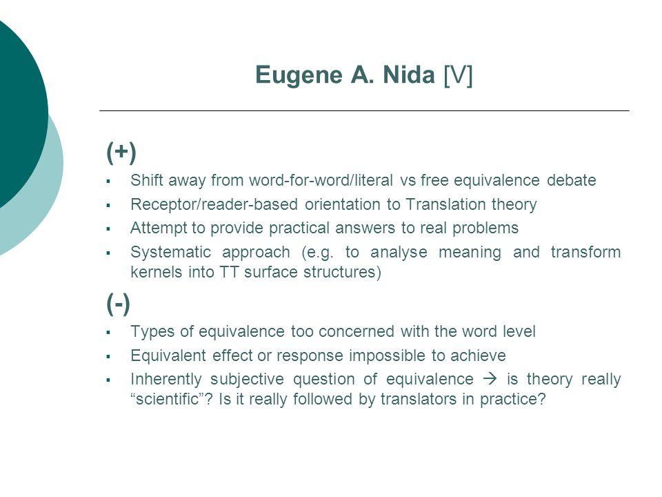 Eugene A. Nida [V] (+) (-)